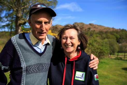Joss Naylor Mbe With Brathays Aly Knowles Plans To Run His Own Fundraising Marathon For The Charity