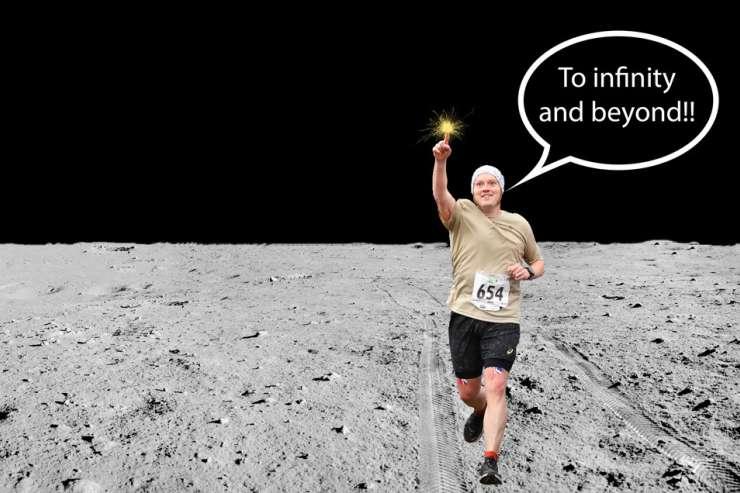 Marathon On The Moon Banner